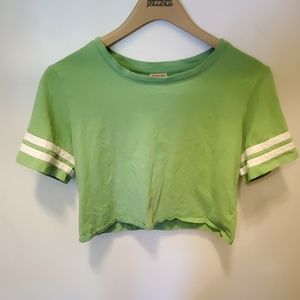 Light green Mossimo cropped shirt